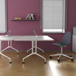 Büroplanung - Doppelarbeitsplatz - Brombeere